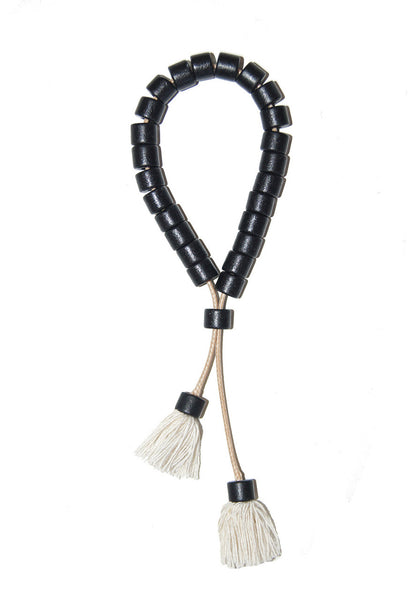 Ceramic Beaded Cord Bracelet - Black