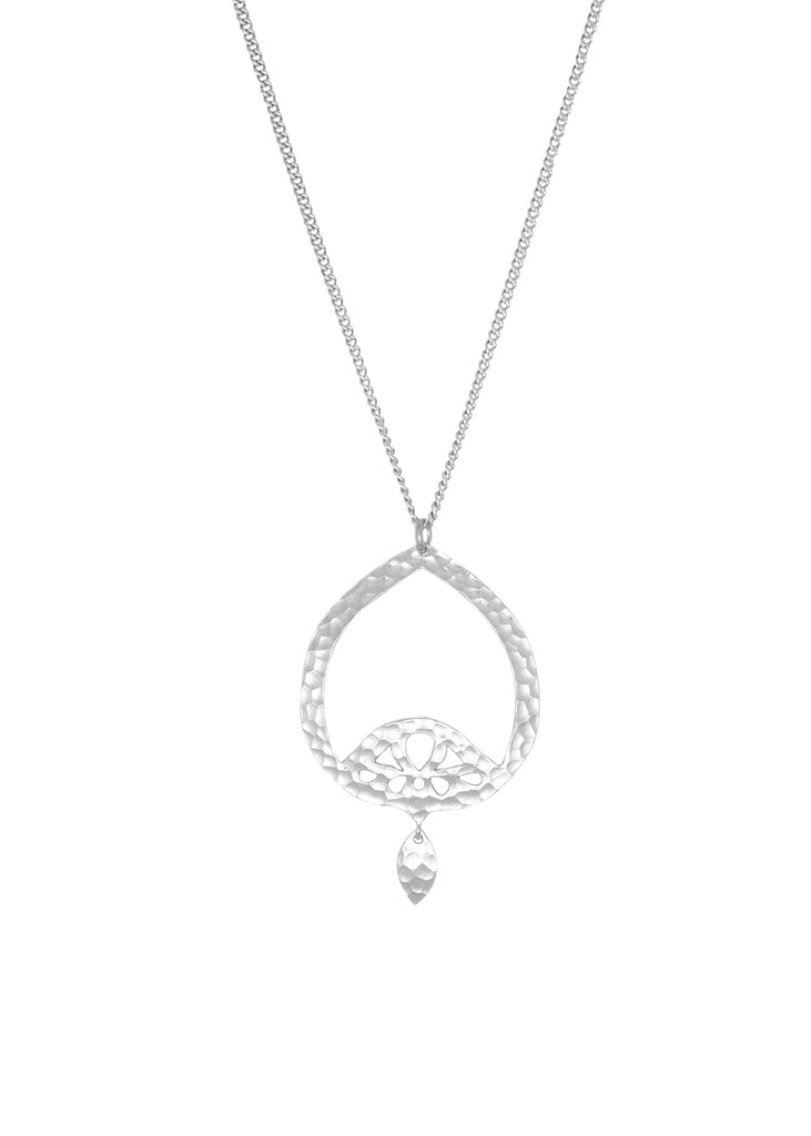 Dominique Statement Pendant Silver