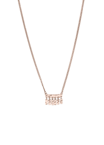 Kiara Tassel Bar Pendant Rose Gold