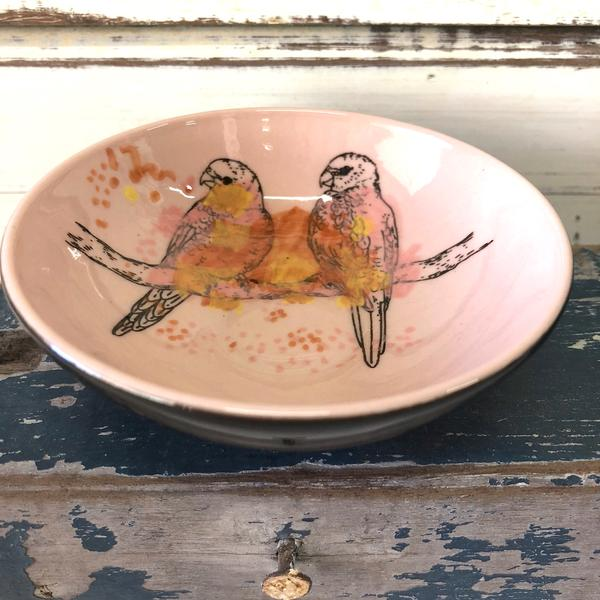 Ceramic Lorikeets Bowl