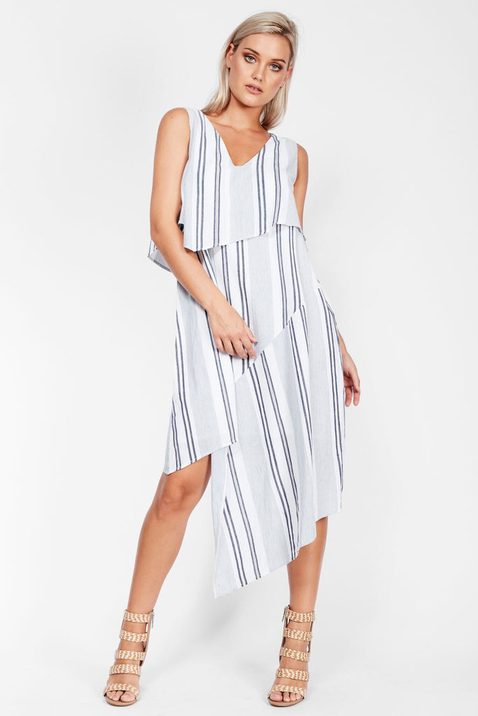 Lost Direction Dress Blue Stripe