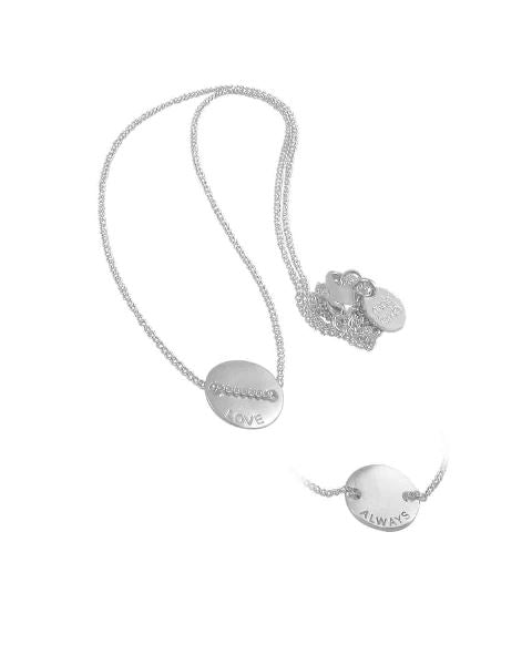 Love Always Necklace Silver