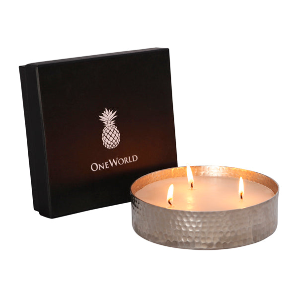 Nickel Triple Wick Candle Sandalwood