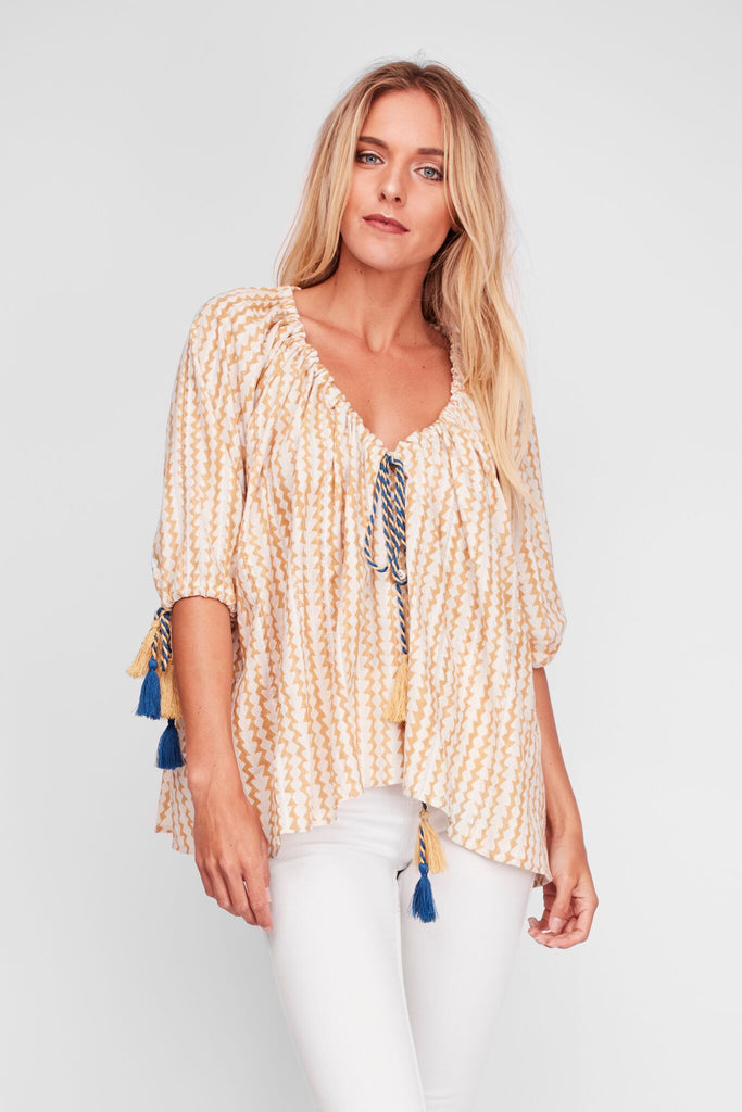 Peasant Blouse Desert Dust