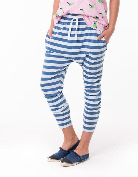Road Night Pant - Blue & Indigo Stripe