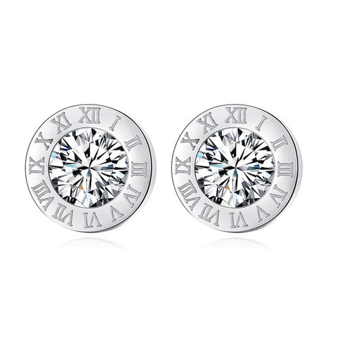 Stainless Steel Acrylic Crystal Stud Earrings