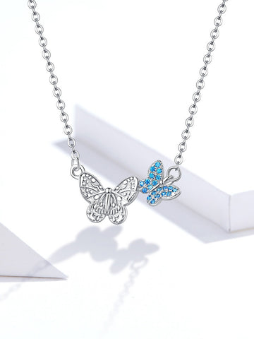 Silver Flying Butterfly