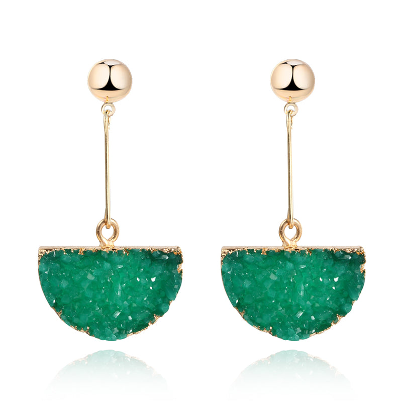 Gabriella Semicircle Drusy Earrings