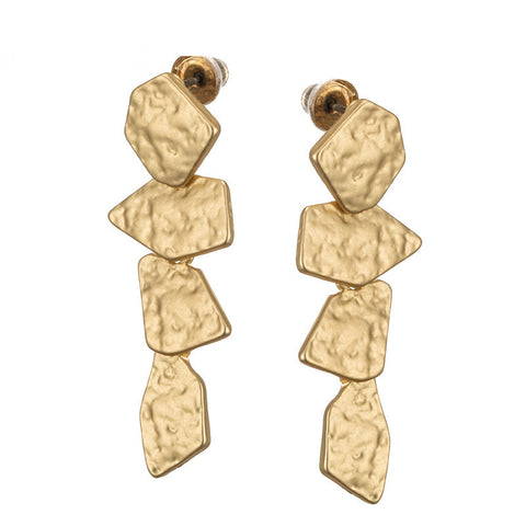 Lisette Golden Stone Dangle Earrings