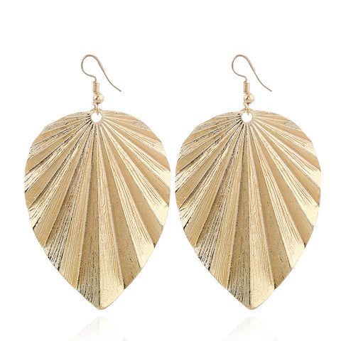 Lina Boho Leaf Dangle Earrings