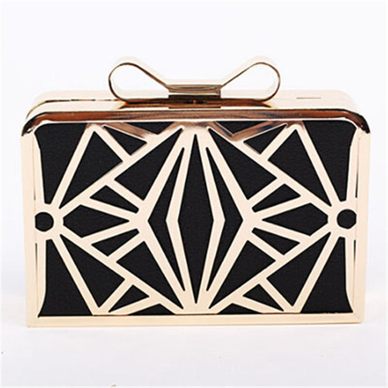 Metal Patchwork Shinning Clutch