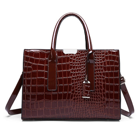 HJPHOEBAG New Crocodile Pattern Women Bag Handbags Women Messenger Bags Crossbody Shoulder Bags Women Leather Handbag YC196