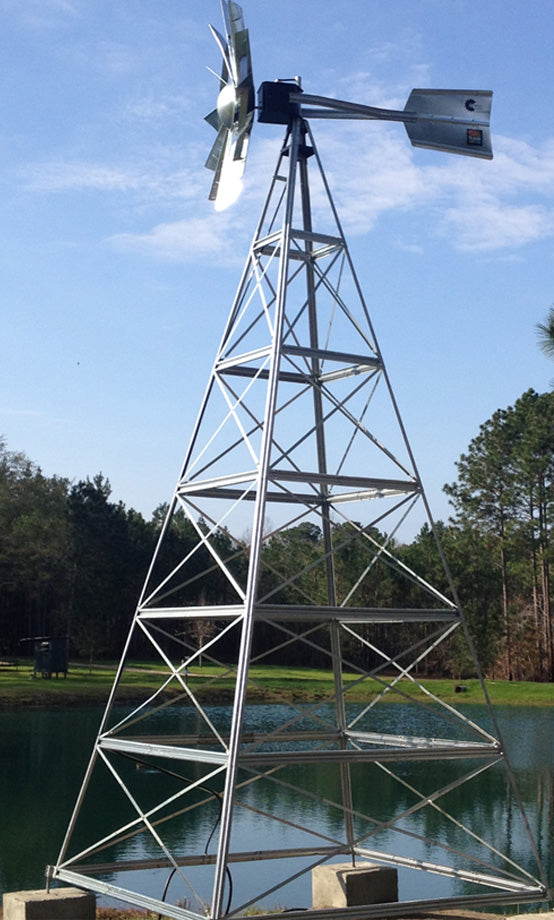 20' Four-Leg Windmill Aeration Package - The Pond Shop®