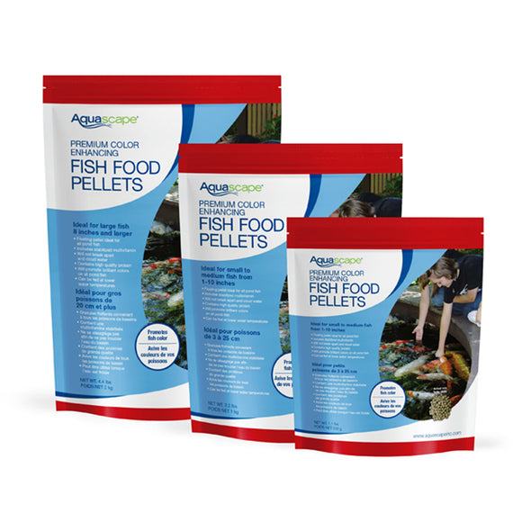 Premium Color Enhancing Fish Food Pellets