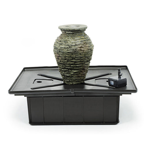 Mini Stacked Slate Urn Fountain