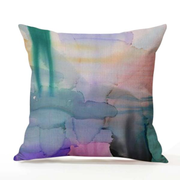 Aurora Watercolour Blot Cushion Cover