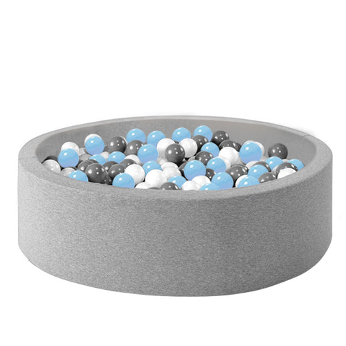 Ball Pool Package 90cm x 30cm, 200 x Pale Blue, Grey and White Balls