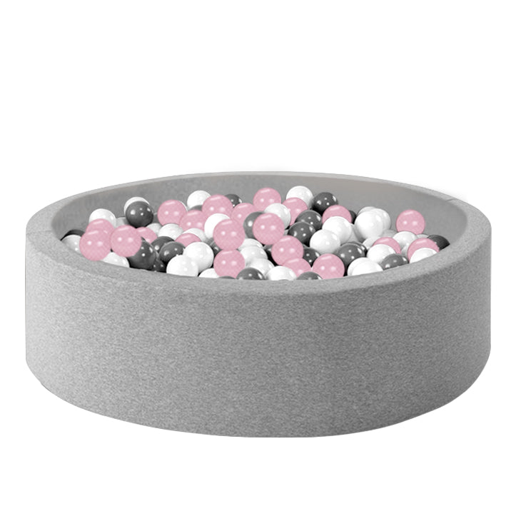 Ball Pool Package 90cm x 30cm, 200 x Pale Pink, Grey and White Balls