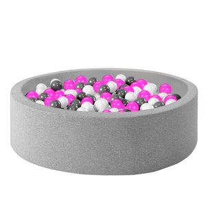 Ball Pool Package 90cm x 30cm, 200 x Pink, Grey and White Balls