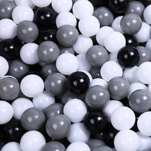 Ball Pool Package, 90cm x 30cm, 200 x Black, Grey and White Balls