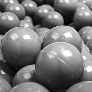 Ball Pool Package 90cm x 30cm, 200 x Pale Purple, Grey and White Balls