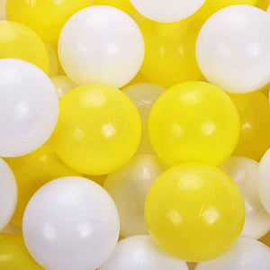 Ball Pool Package 90cm x 30cm, 200 x Yellow, Grey and White Balls