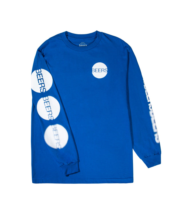 Blurred Vision Longsleeve Tee, Royal