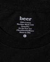 Beer Logo Tee, Black