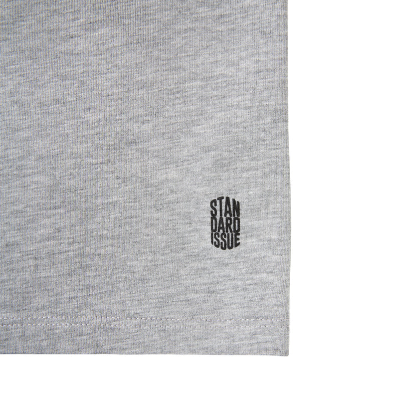 Beers x Standard Issue Core Logo Tee, Heather Grey
