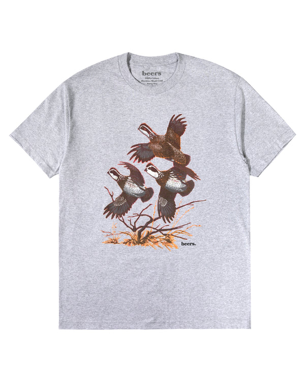 Flocking Tee, Heather Grey