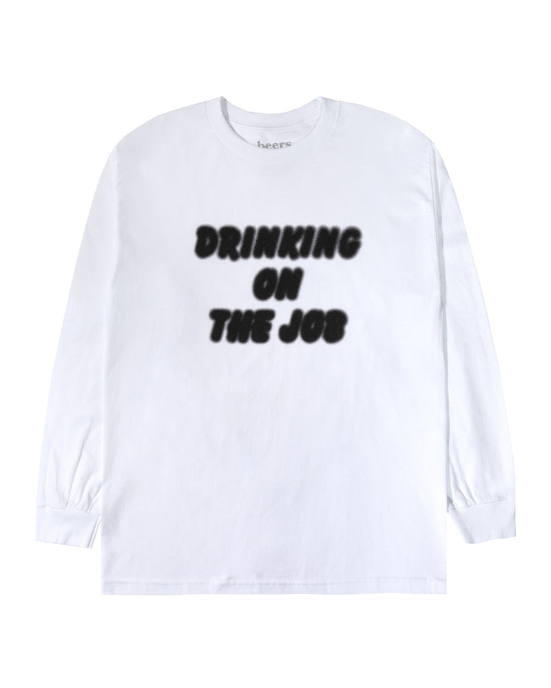 On The Job Longsleeve Tee, White