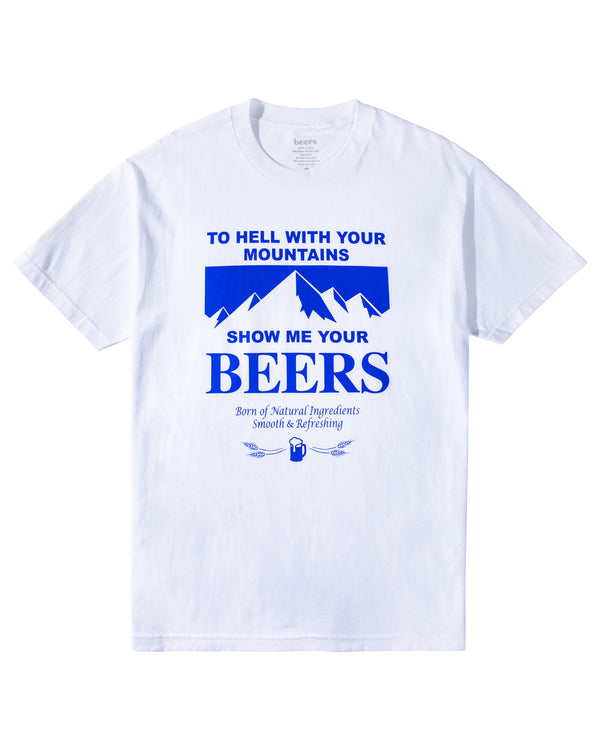 Mountains Tee, White
