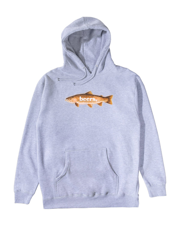 Trout Hoodie, Heather Grey