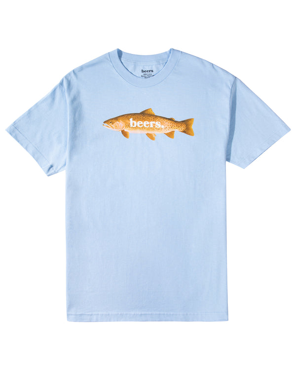 Trout Tee, Baby Blue