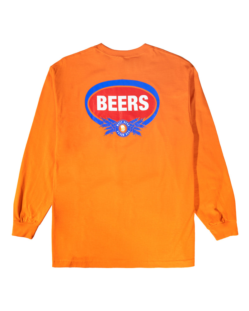 Wheat Longsleeve Tee, Orange