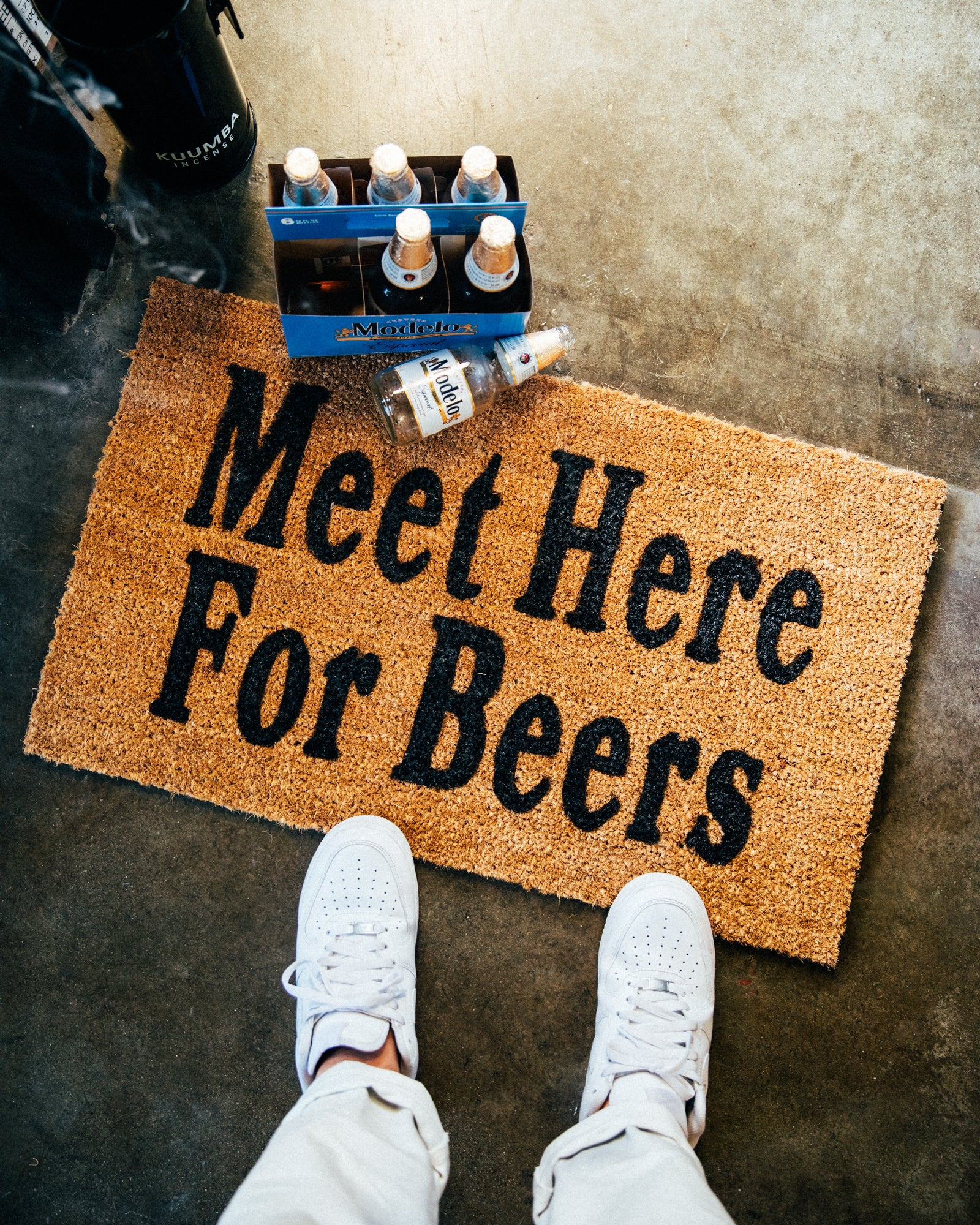 Meet Here For Beers Doormat