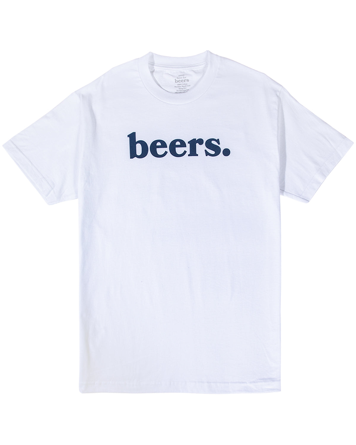 Beers Logo Tee, White
