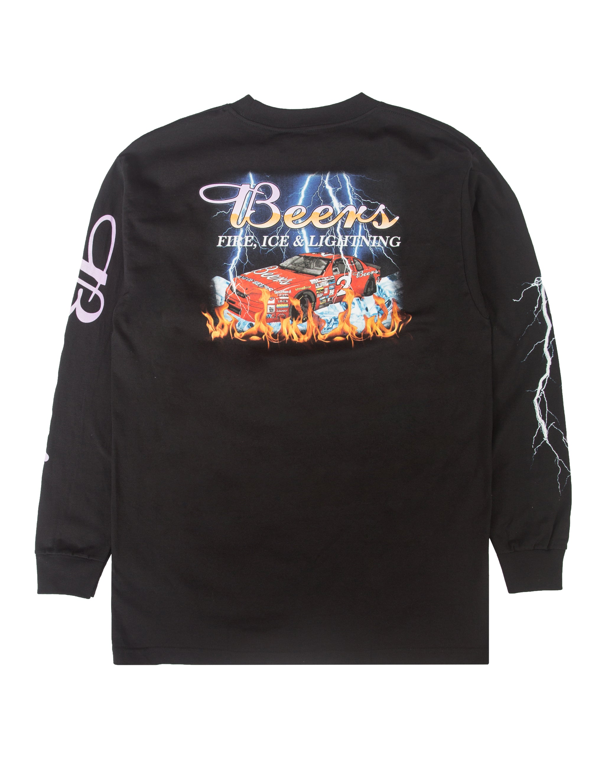 Racing Team Longsleeve Tee, Black