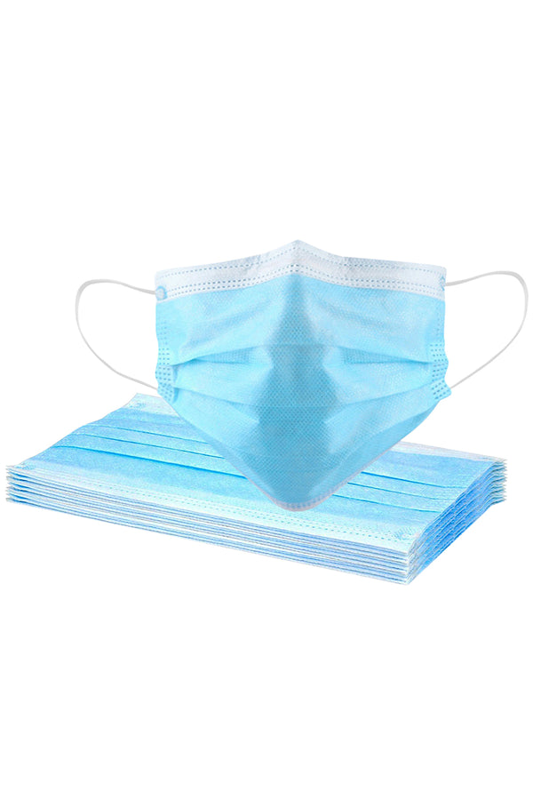 20 Pcs Disposable Face Masks with Elastic Ear Loop 3 Ply for Blocking Dust Air Pollution Protection