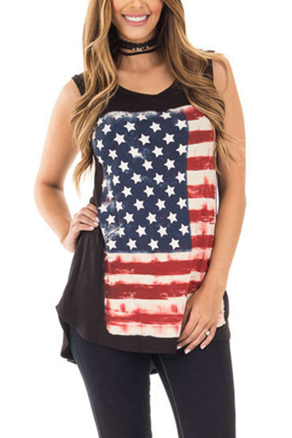 Iyasson American Flag Classic Tank Tops