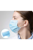 500 Pcs Disposable Face Masks with Elastic Ear Loop 3 Ply for Blocking Dust Air Pollution Protection