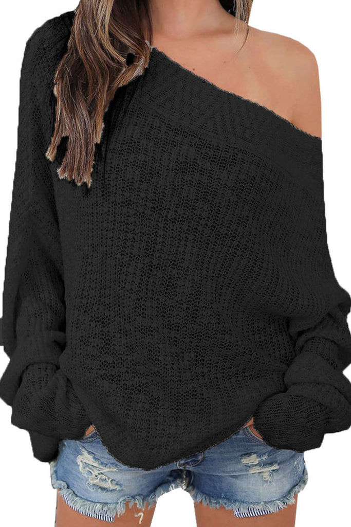 Iyasson Women Off Shoulder Jumper
