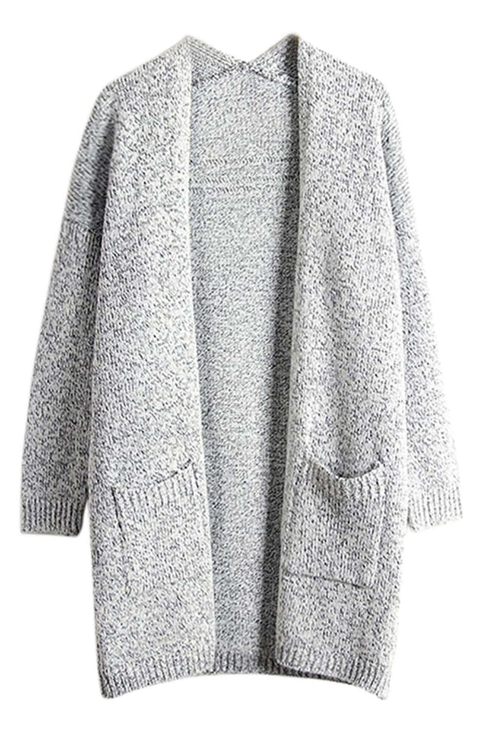 Iyasson Women's Knitted Open Front Cardigan Sweater