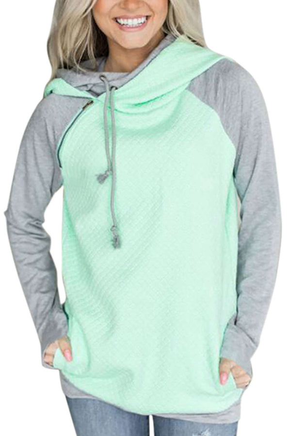 Iyasson Colourblock Hoodie Sweatshirt