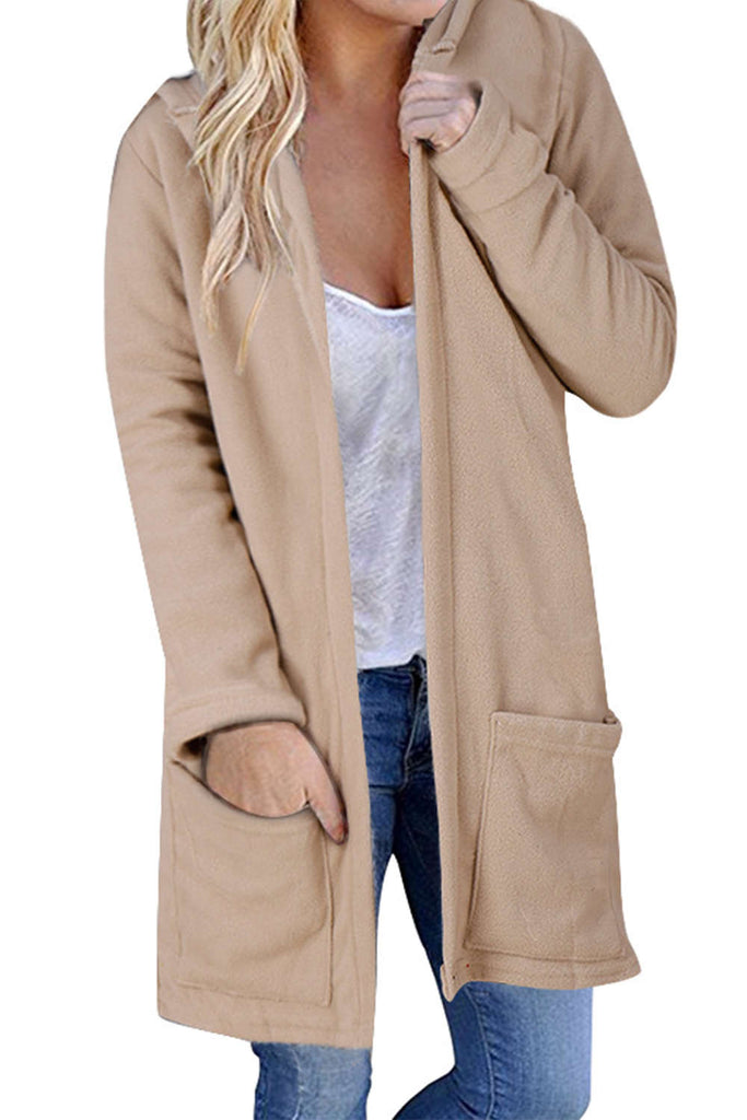 Iyasson Long Sleeve Solid Open Front Cardigan