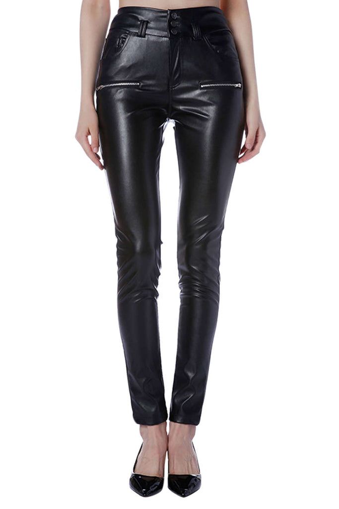 Iyasson Elastic High Waisted Skinny Pants