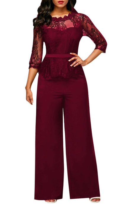 Iyasson Women's Lace Jumpsuit