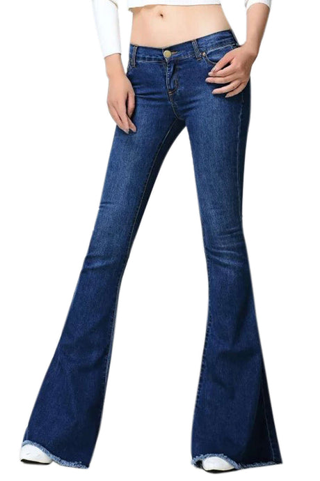 Iyasson Women's Vintage Flare Jeans