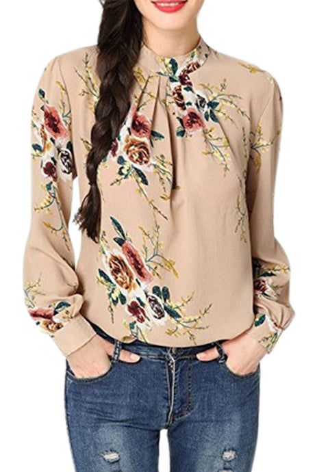 Iyasson Floral Print Long Sleeve Shirt