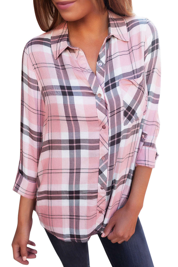 Iyasson Women's Plaid Long Sleeve Shirts